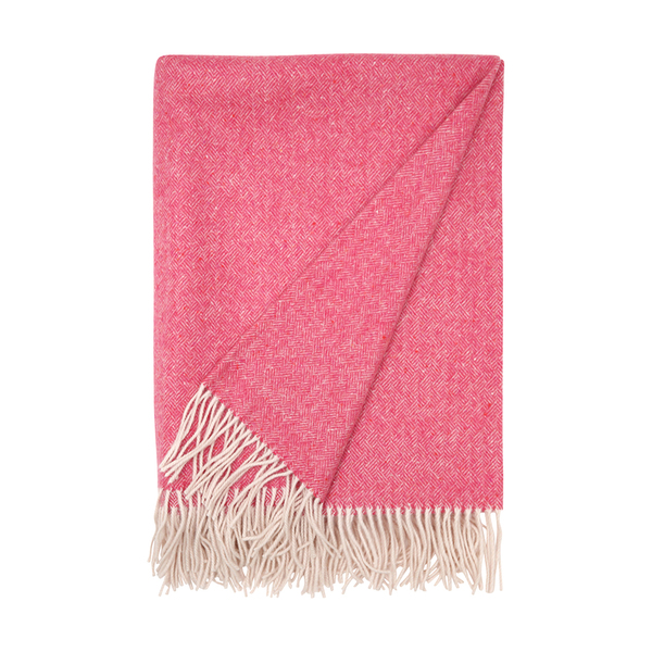 Large brora cashmere woven blanket