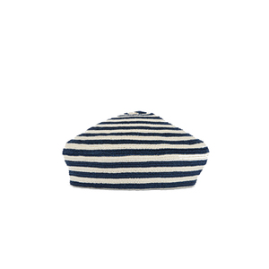 Medium gucci striped straw beret