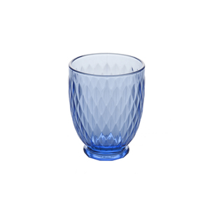 Medium house of hackney diamond tumbler glass   blue