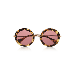 Medium miu miu round frame acetate sunglasses