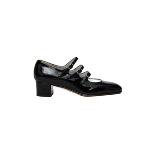 Medium carelkina patent leather buckle heels