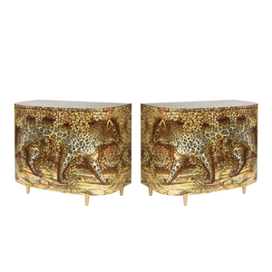 Medium large piero fornasetti leopardo sideboards copy