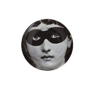 Medium fornasetti eye mask face print wall plate
