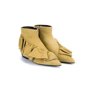 Medium j.w.andersondesert ruffle ankle bootie