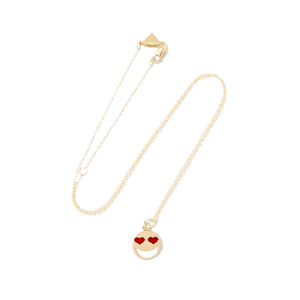 Medium alison lou lovestruck 14 karat gold enamel necklace