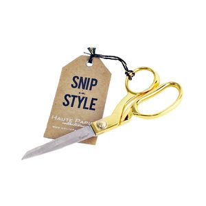Medium seejanework snip in style gold scissors