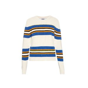 Medium msgmstriped intarsia cotton sweater