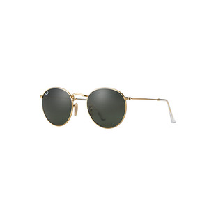 Medium ray ban green classic round metal