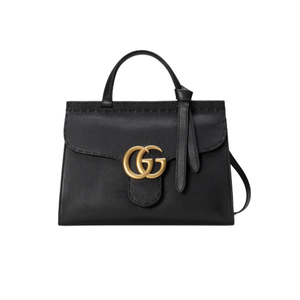 Medium gucci gg marmont leather top handle bag