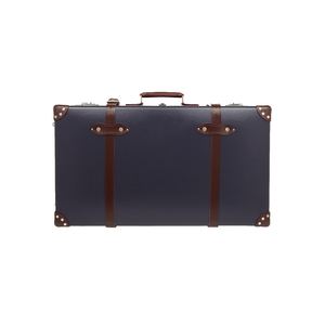 Medium net a porter globe trotter centenary 30  leather trimmed fiberboard suitcase