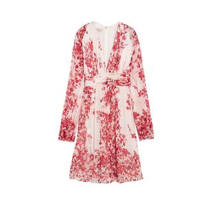 Medium giambattista valli floral print silk georgette mini dress2