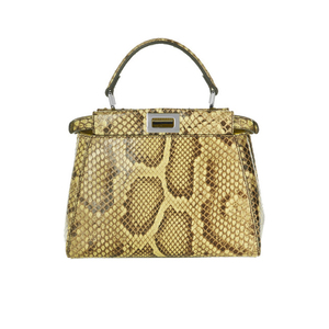 Medium fendi mini peekaboo bag python