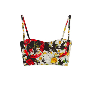 Medium dolce   gabbanafloral print cotton poplin bra top2