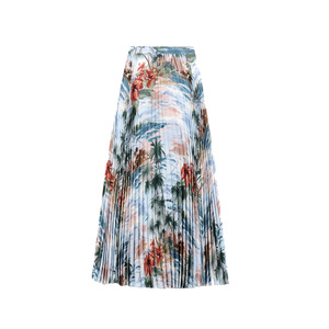 Medium valentino pleated skirt in crepe de chine