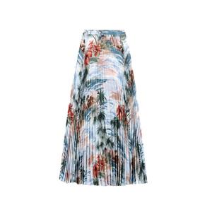 Medium valentino pleated skirt in crepe de chine
