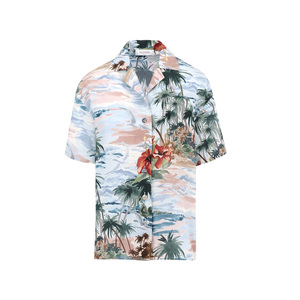 Medium valentino shirt in printed crepe de chine