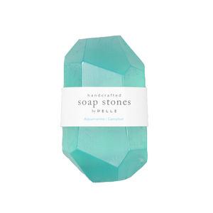 Medium pellesoap stones aquamarine camphor stone   6oz