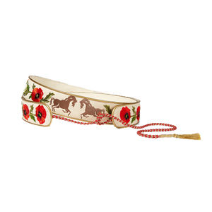 Medium netaporter stella mccartney embroidered cotton canvas waist belt