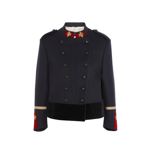 Medium netaporter gucci double breasted appliqued wool jacket