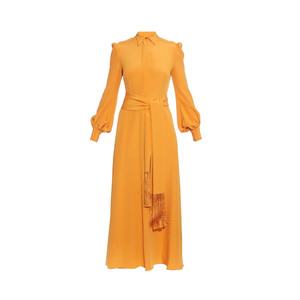 Medium hillier bartleyfringed tie crepe maxi dress