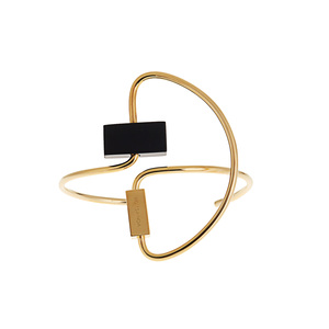 Medium roksanda round one gold plated bracelet