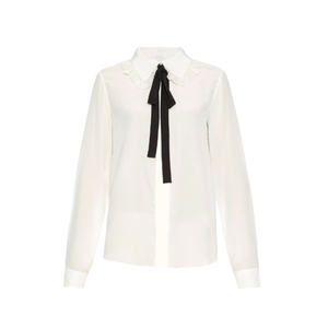 Medium chlo ruffled collar silk shirt