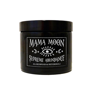 Medium mama moon candle supreme abundance  aloeswood patchouli candle