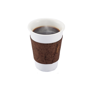 Medium bambuhome cork coffee pint sleeve dark brown