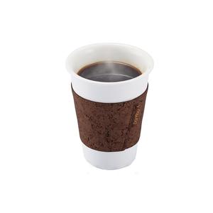 Medium bambuhome cork coffee pint sleeve dark brown