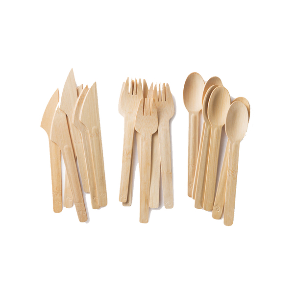 Large bambuhome all occasion veneerware bamboo knife fork spoon
