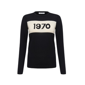 Medium bella freud 1970 jumper black   ivory
