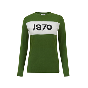Medium bella freud cotton 1970 jumper cactus green