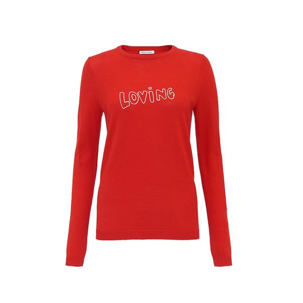 Large bellafreud loving jumper red