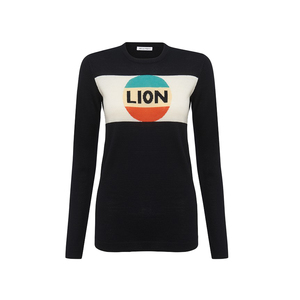 Medium bellafreud lion stripe black multi
