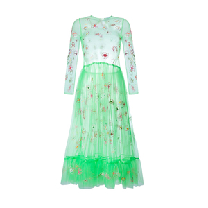 Medium brownsfashion molly goddard floral embroidered tulle dress