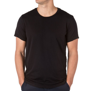 Medium savekhaki supima crew tee black