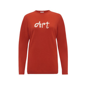Medium bella freud art jumper   red
