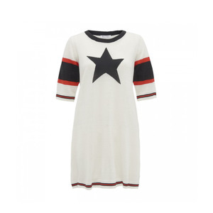 Medium bella freud back to cali dress ivory