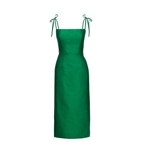 Medium emerald silk night garden dress