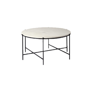 Medium swooneditions athena coffee table marble iron