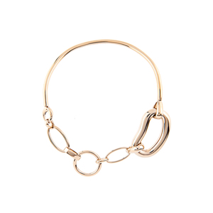 Medium balenciagaoval chain link brass necklace