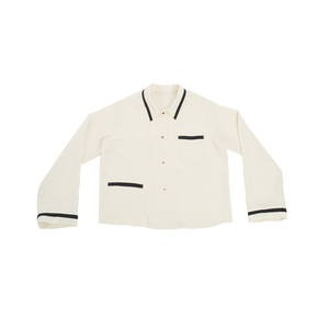 Medium large alison lou x morgan lane emoticon silk shirt