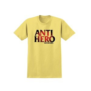 Medium social skate shop anti hero skateboards sunburst  tshirt yellwo