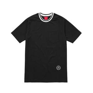 Medium supreme rib pocket tee black