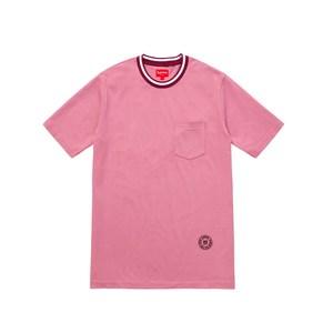 Medium supreme rib pocket tee dusty pink