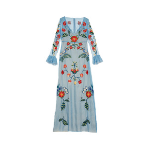 Medium gucci silk organza embroidered gown