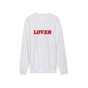 Medium whatdropsnow bianca chandon lover sweatshirt white red