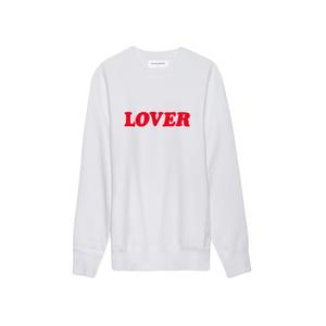 Medium whatdropsnow bianca chandon lover sweatshirt white red