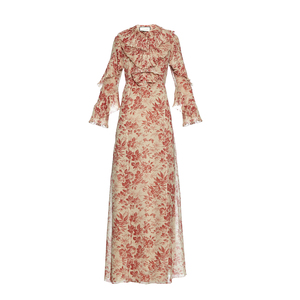 Medium matchesfashion gucci herbanium print georgette gown