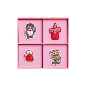 Medium olympia le tan set of 4 hand embroidered japan pins